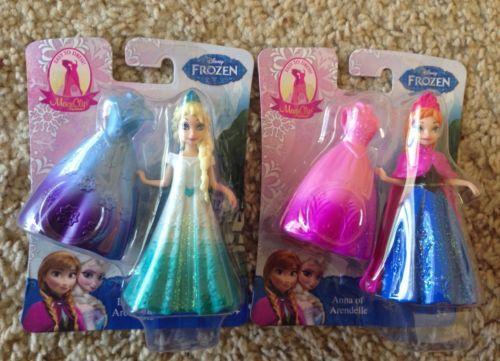 FROZEN ELSA & ANNA MAGIC CLIP MAGICLIP Princess Mini Dolls