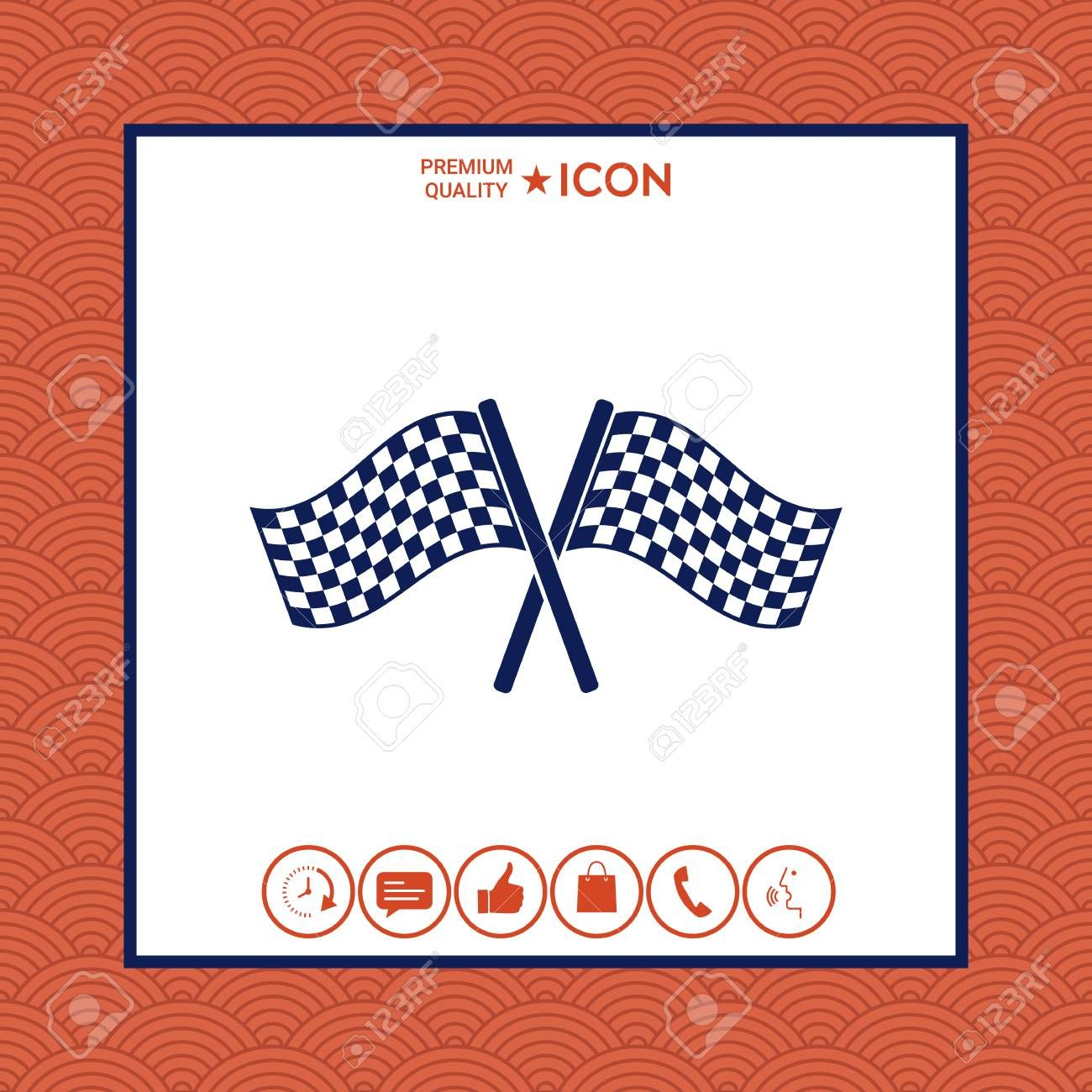 Start Finish Cross Flags Icon On White Background With Border Vector Illustration Affiliate Flags Icon C In 2020 Flag Icon Graphic Design Layouts Cross Flag