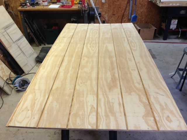 4x8' piece of tongue in groove house siding, pre-glued ...