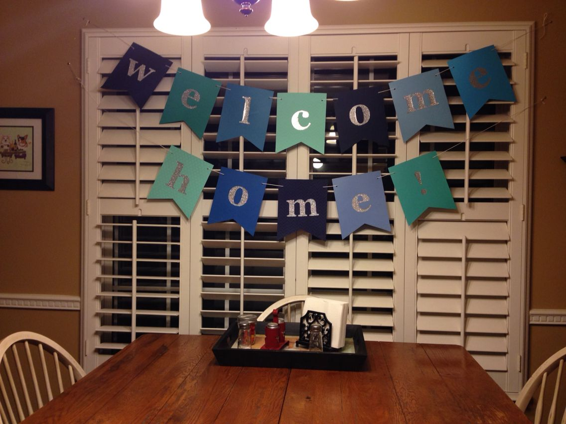 Welcome home banner d y pinterest banners craft and for Welcome home decorations