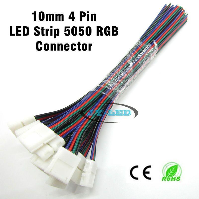 20 teile/los 10mm 4pin für 5050 RGB led-streifen-anschluss, kein ...