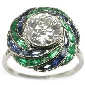 Emerald rings, Sapphire and Art deco on Pinterest