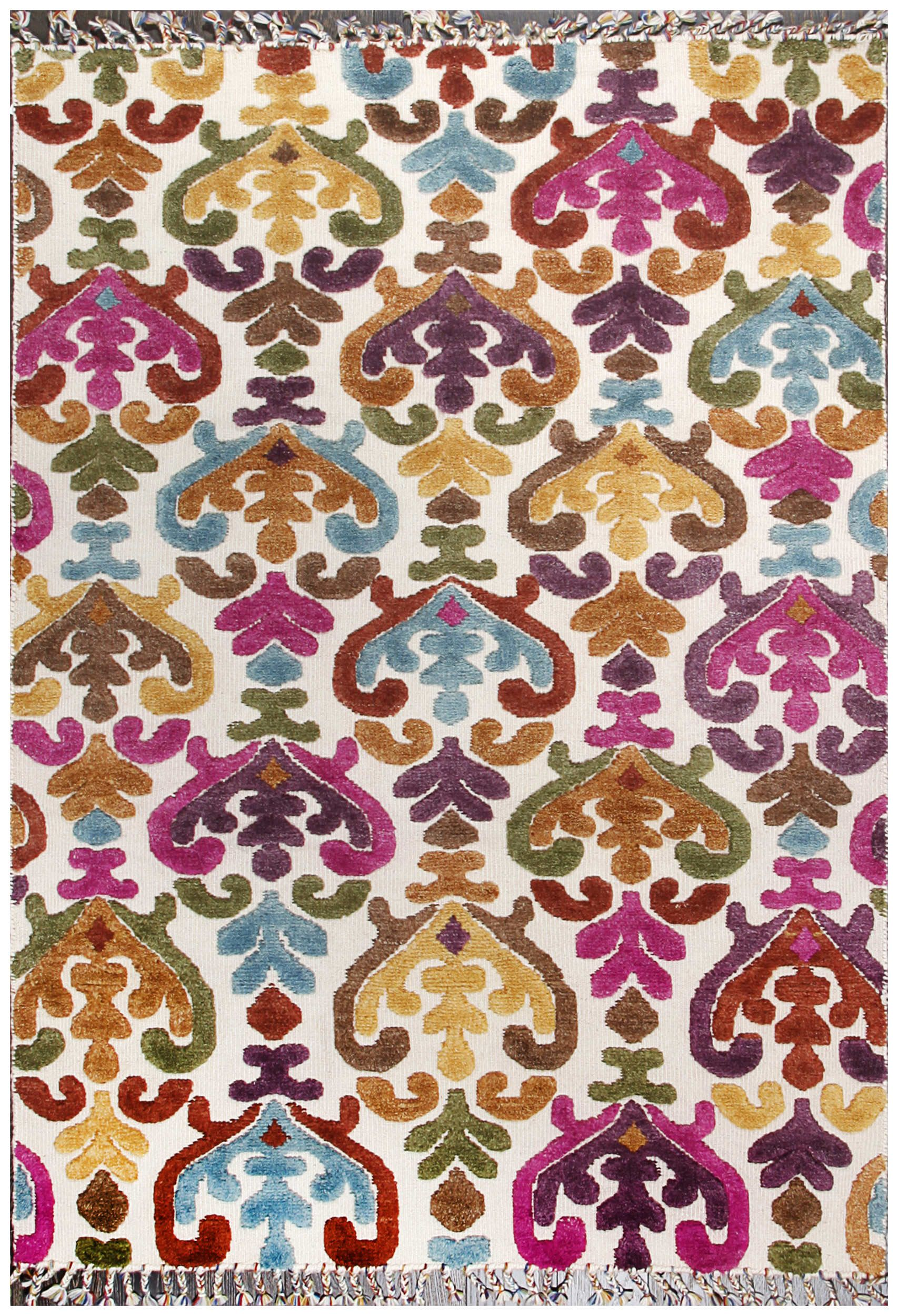 Rugsville Moroccan Selma Multi Hand Knotted Rug 5 X 7 6