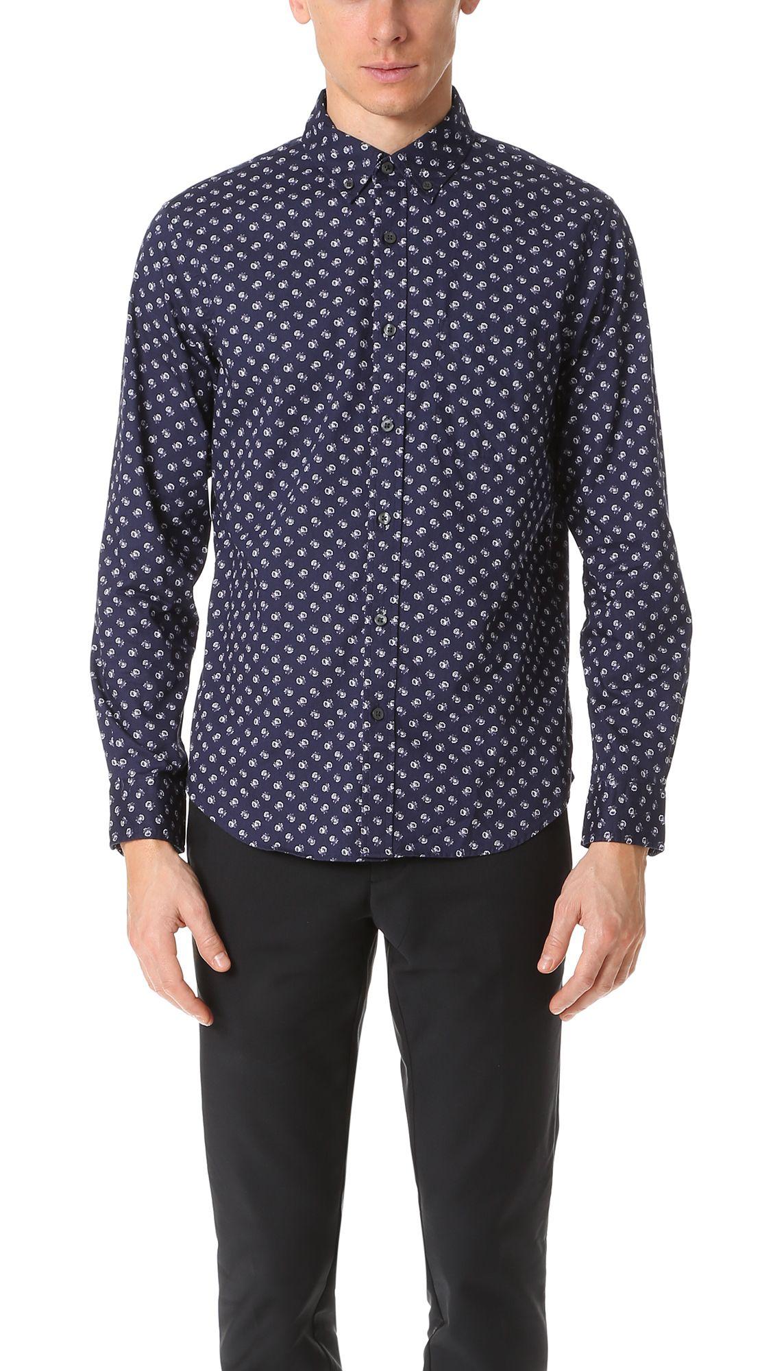 CLUB MONACO Slim Button Down Paisley Shirt. #clubmonaco #cloth #shirt