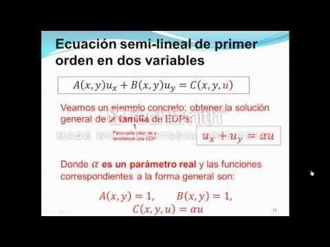 Ecuaciones Diferenciales parciales, EDO ejemplo reacciones quimicas ...