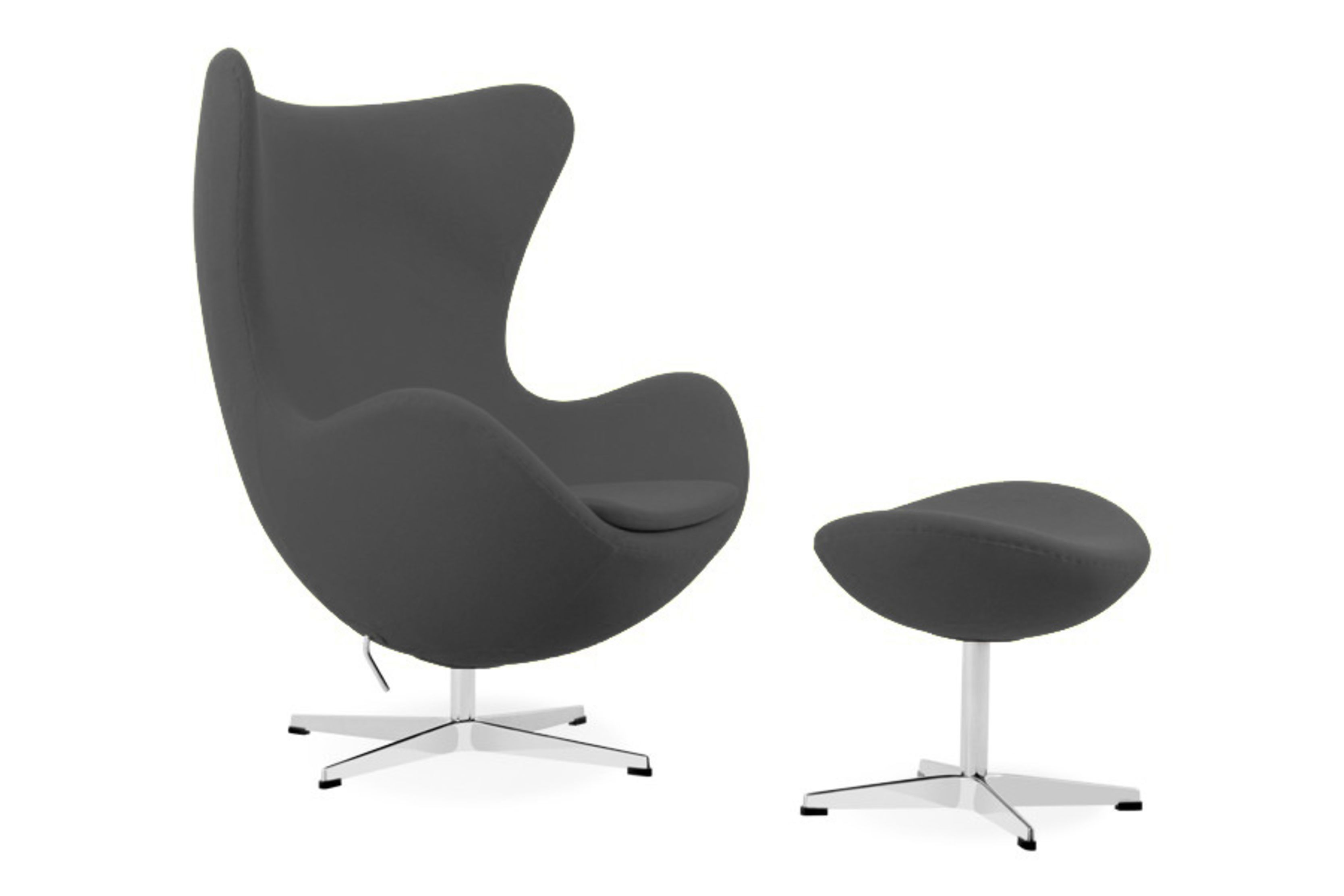 Egg Chair With Ottoman Arne Jacobsen Italiadesigns Formal Lounge