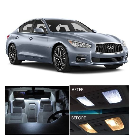 Free Shipping 10Pcs/Lot Car Styling Xenon White Package Kit LED Interior  Lights For