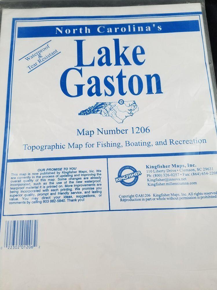 KINGFISHER Quality Lake Maps-Lake Gaston-Map#1206