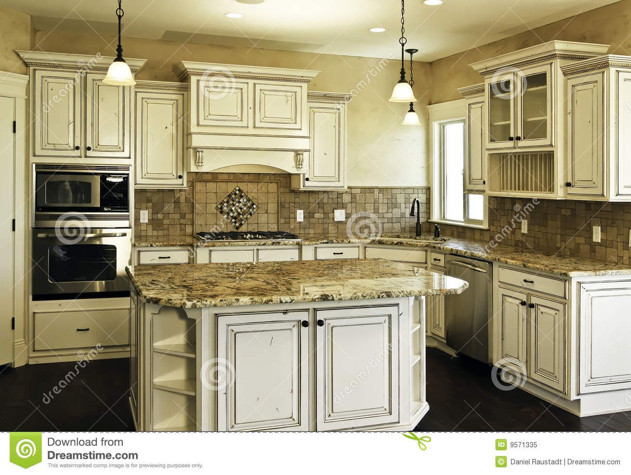 white distressed kitchen cabinets - Google Search | My dream home ...