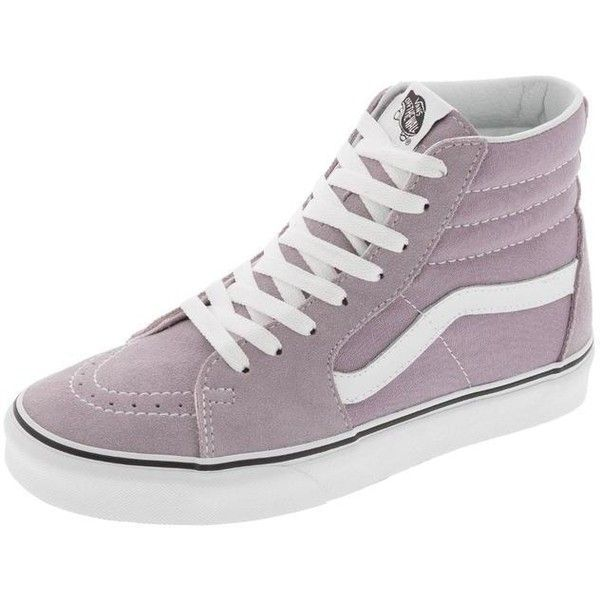 125f7032b268 Vans Sk8 Hi Sea Fog True White ( 50) ❤ liked on Polyvore featuring shoes