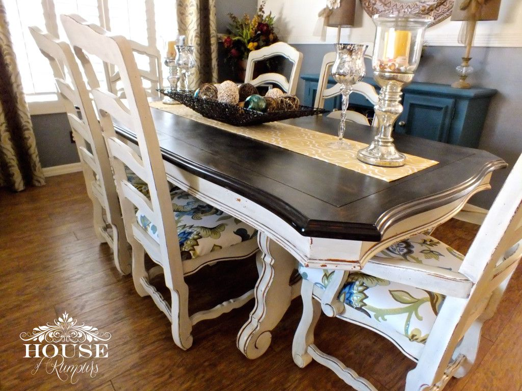 Annie Sloan Antique Beach Buffet Chalk Paint Chunky Coffee Table Credenza Dining Room Duck Egg Blue Eclectic Espresso Stain Finish Finishes