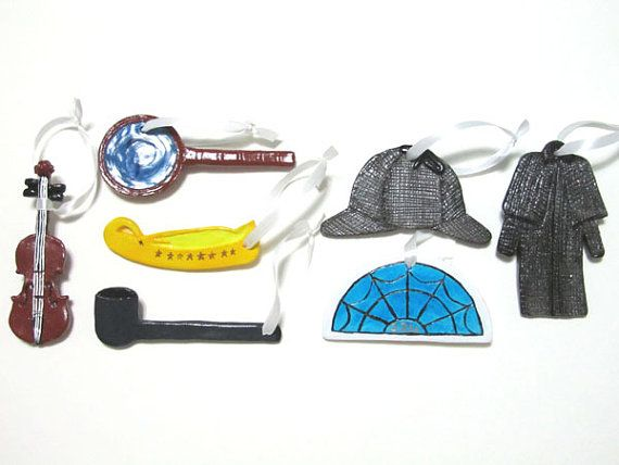 Traditional Sherlock Holmes Magnet / OR / Christmas Ornament Collection