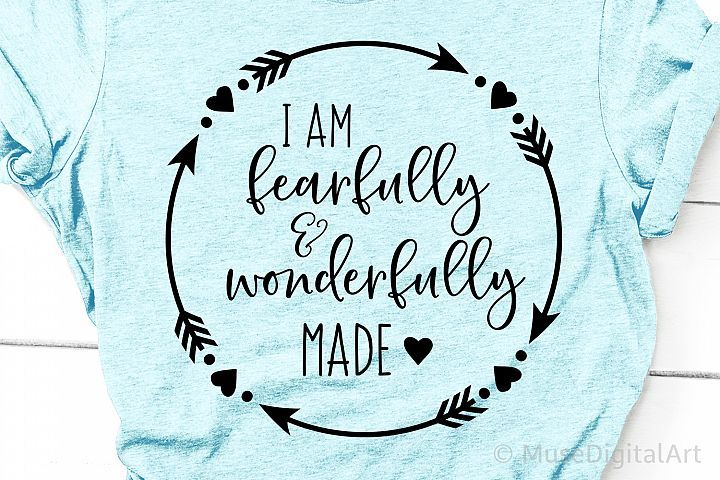 Download I am Fearfully and Wonderfully Made Svg, Bible Scripture ...