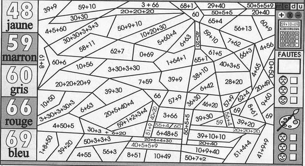 Coloriage magique : Faire des additions | Matematika ...