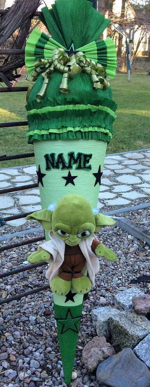 schultüte zuckertüte mit star wars yoda  schultüte