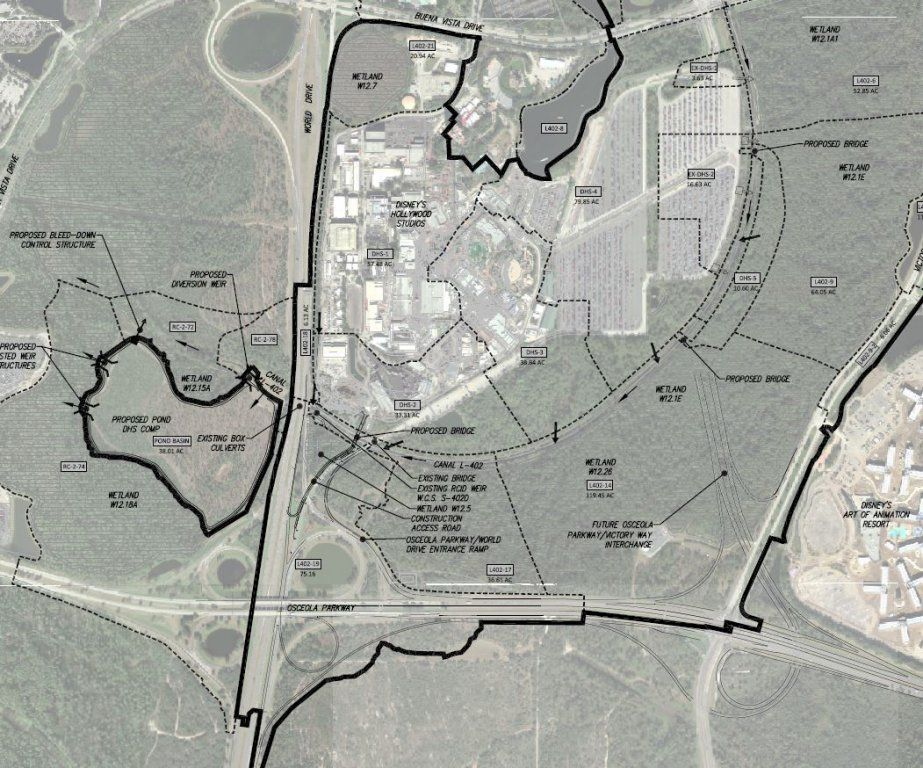 An initial batch of permit maps for Star Wars Land and Toy Story Land detail the expansion to Walt Disney World's Hollywood Studios, as reported by mousehub.com. The site is also claiming that cons...