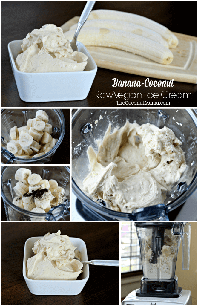Banana Coconut Raw Vegan Ice Cream