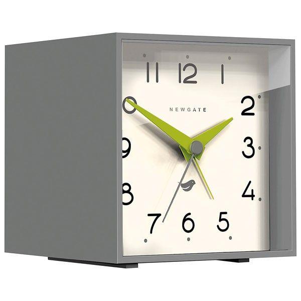 newgate cubic ii alarm clock clockwork grey modern desk clock - Designer Desk Clock
