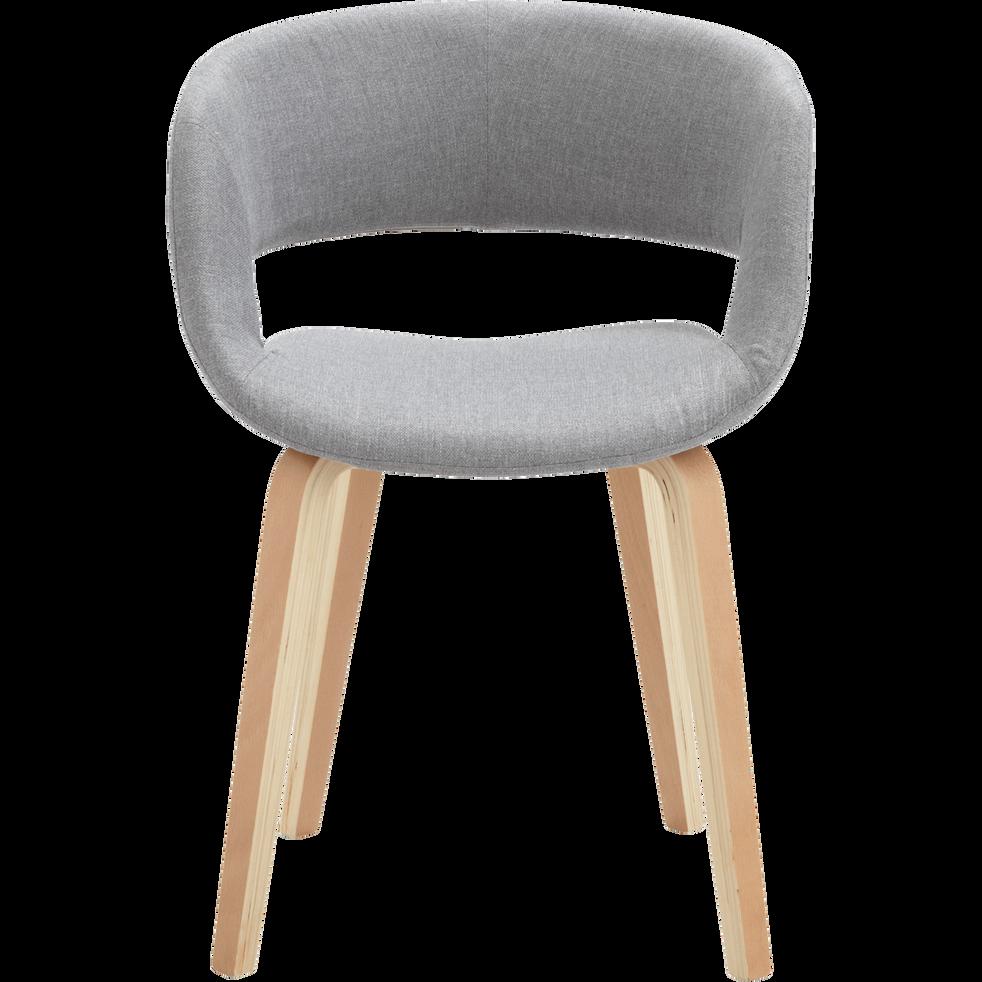 Chaise En Tissu Gris Avec Accoudoirs Joyau Chaise Chaise Tissu Tissu Gris Chaise