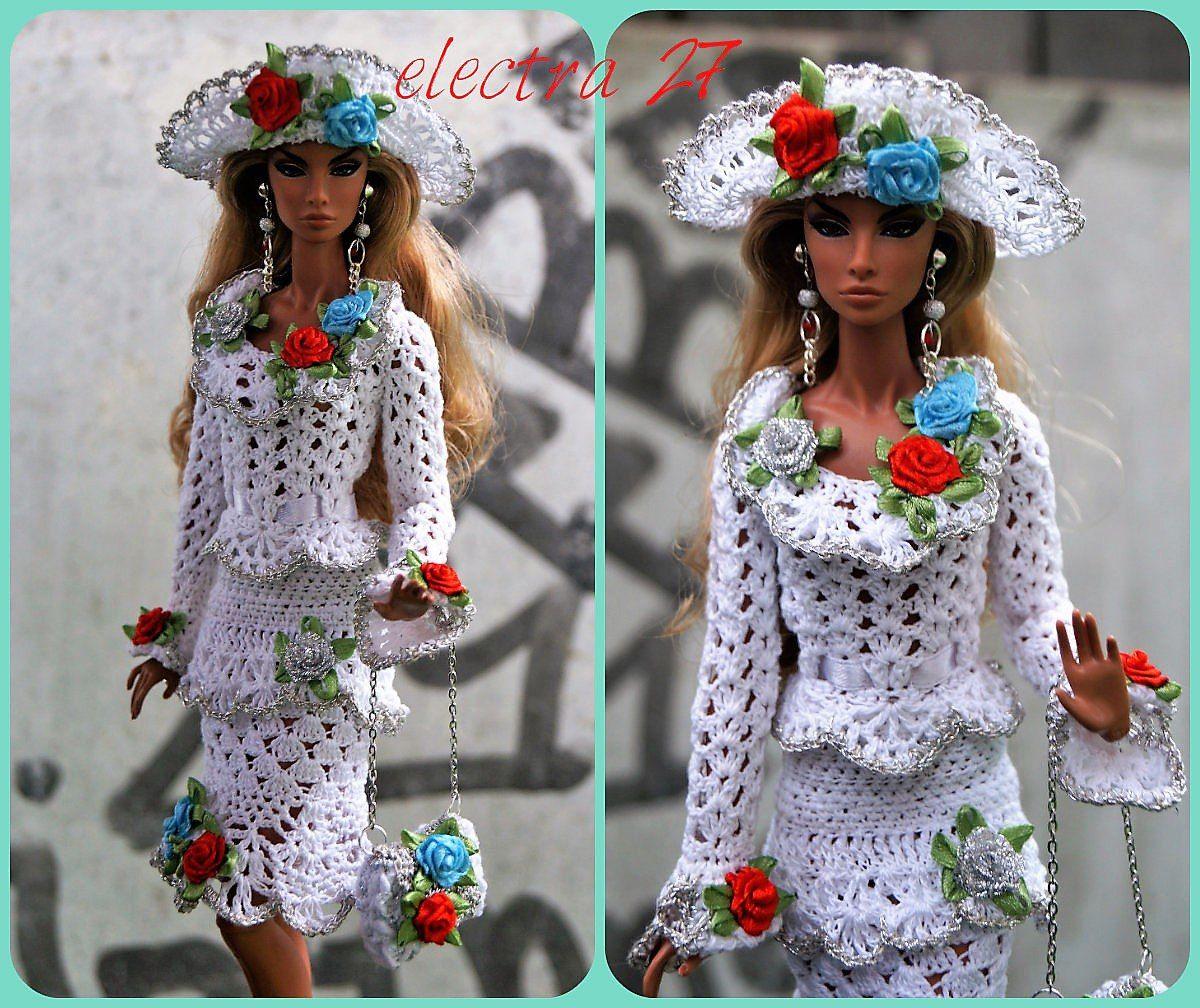 куклы барби одежда вязание