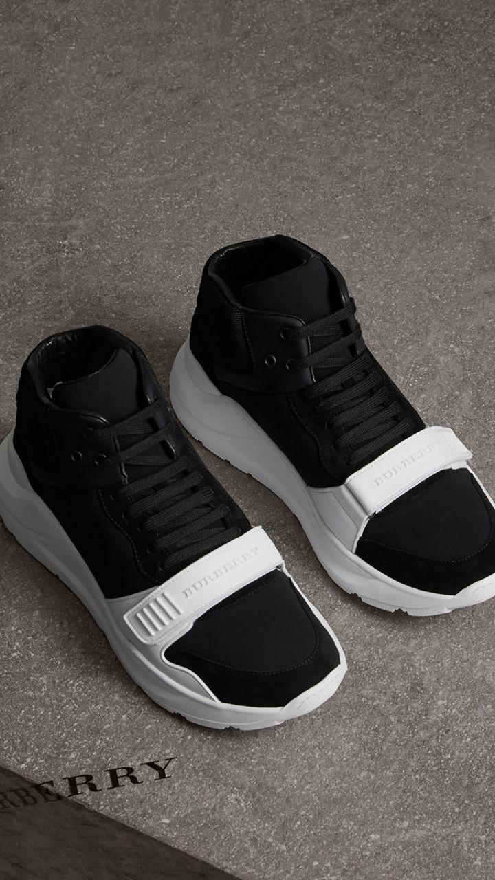 official photos 92519 c41c4 Zapatillas deportivas de botín en ante y neopreno (Negro) - Mujer    Burberry Estados Unidos
