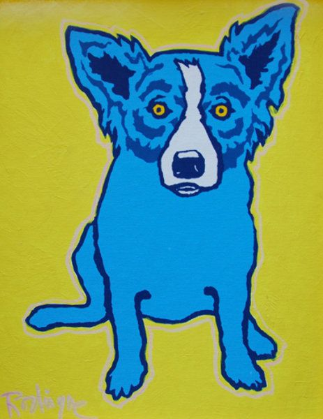 Pictures Of Blue Dog Paintings