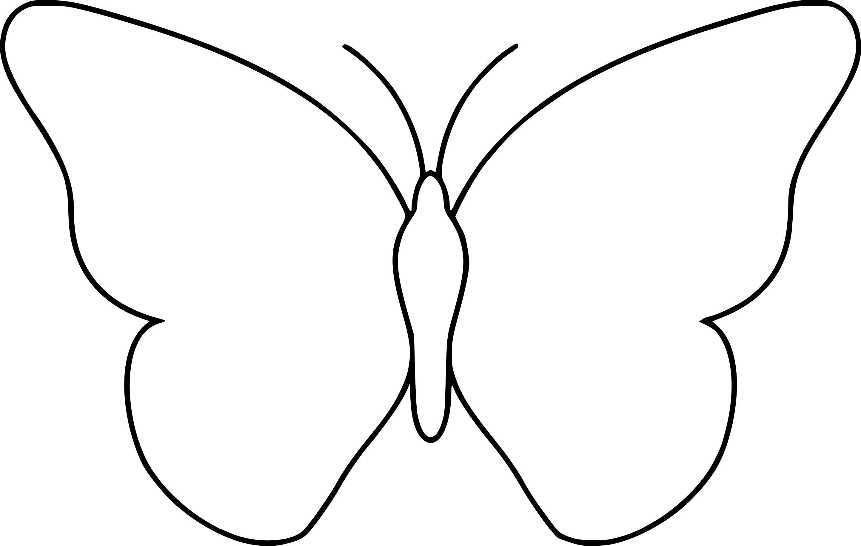 Coloriage Papillon Simple A Imprimer Sur Coloriages Destines A