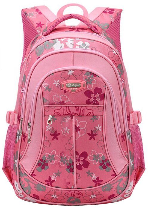 28a7e251a2 Tinksky Flowers Pattern Backpacks for Girls Elementary School Students Book  Bag Pink