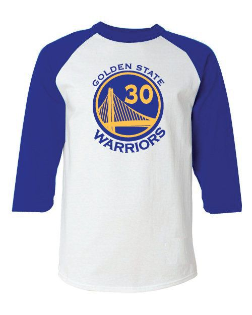 Golden State Warriors Style Raglan T-Shirt Jersey Stephen Curry sz. Large  Jordan LeBron c4d39153e