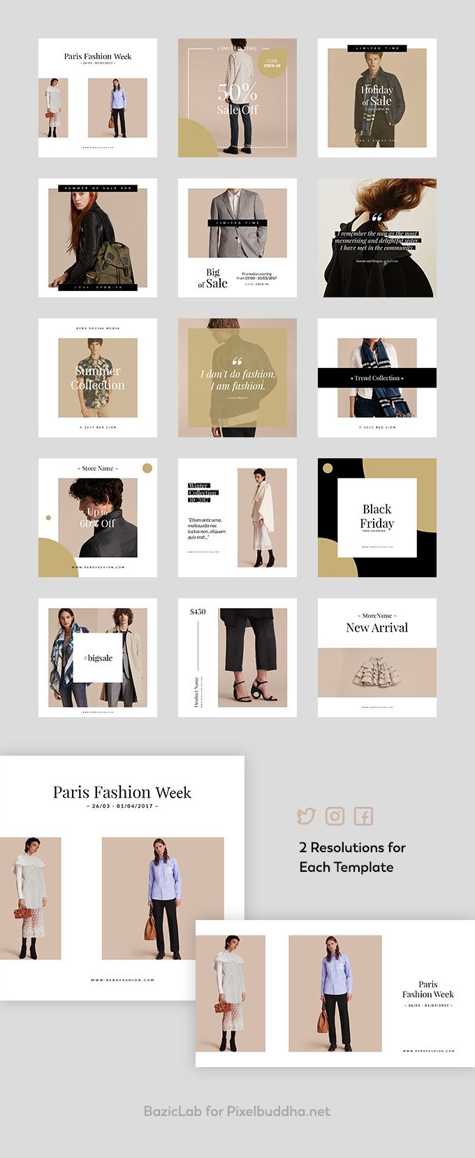 Sienna Free Fashion Social Media Templates For Instagram Design De Instagram Layout Do Instagram Marketing De Midia Social