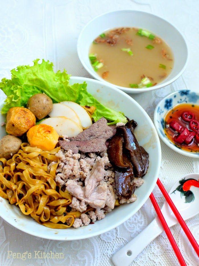 minced meat noodles 潮州肉脞麵 Teochew Bak Chor Mee | Asian