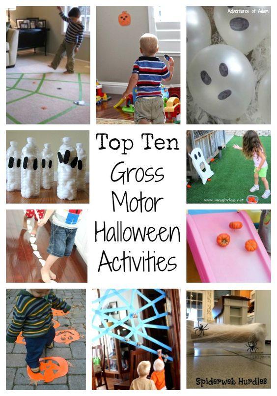 Top 10 Gross Motor Halloween Activities to get your little ones moving.