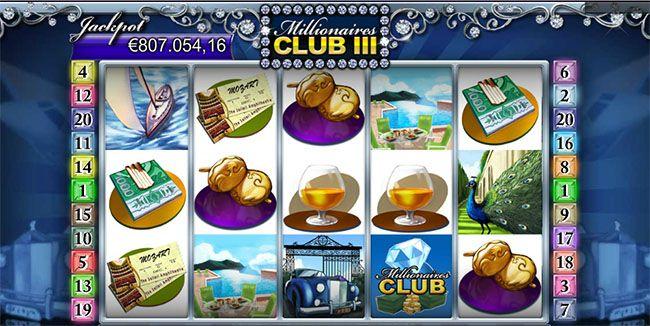 Kolikkopelin Millionaires Club 3 jättipotissa jo yli 800 000 euroa ! Pelaa ja voita isosti jo tänään !