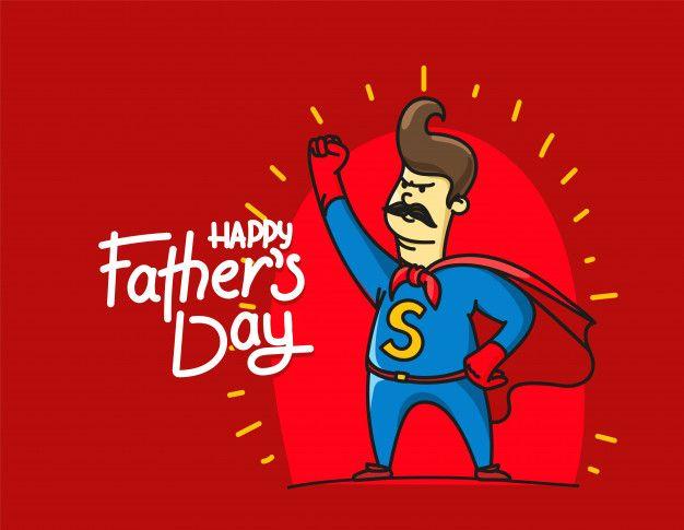 Dia Dos Pais Feliz Com Pai Super Herói