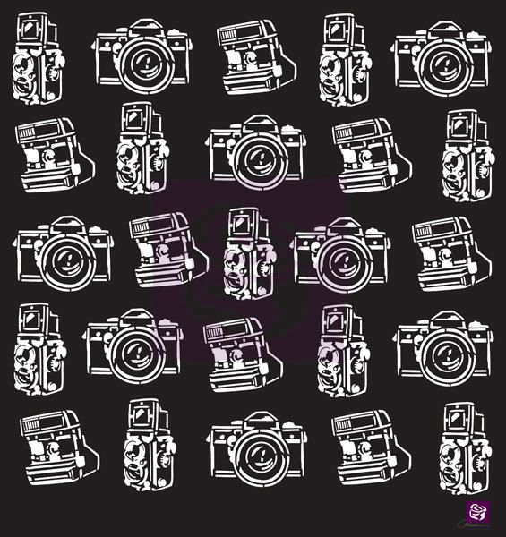 Prima 12x12 Camera Mask Stencil  Die Cut by HopscotchPaperCrafts, $7.69