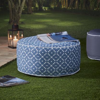 Decoration Mobilier Jardin Et Idees Cadeaux Gifi Gonflable Blanc Bleu Coussin Carre