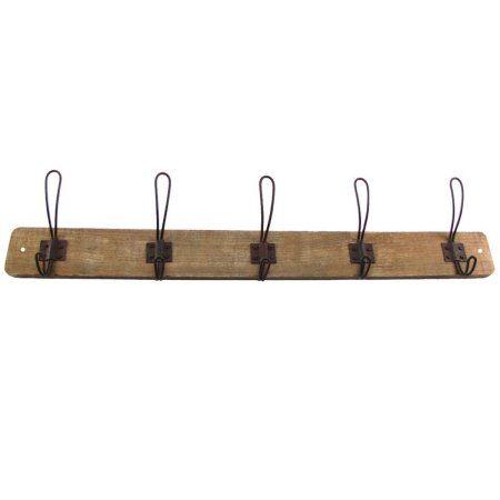 5993f2f1944b4 Buy Antique Style Wooden Wall Mount Coat Rack Hat Key Hook Primitive  Farmhouse Decor at Walmart.com