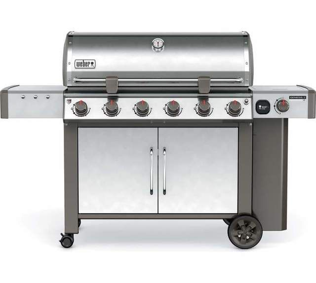 Weber Genesis Ll S640 6 Burner Gas Grill Stainless Steel Http Hypermarkets Me Products Weber Genesis Ll S640 6 Burner G Gas Grill Natural Gas Grill Gas Bbq