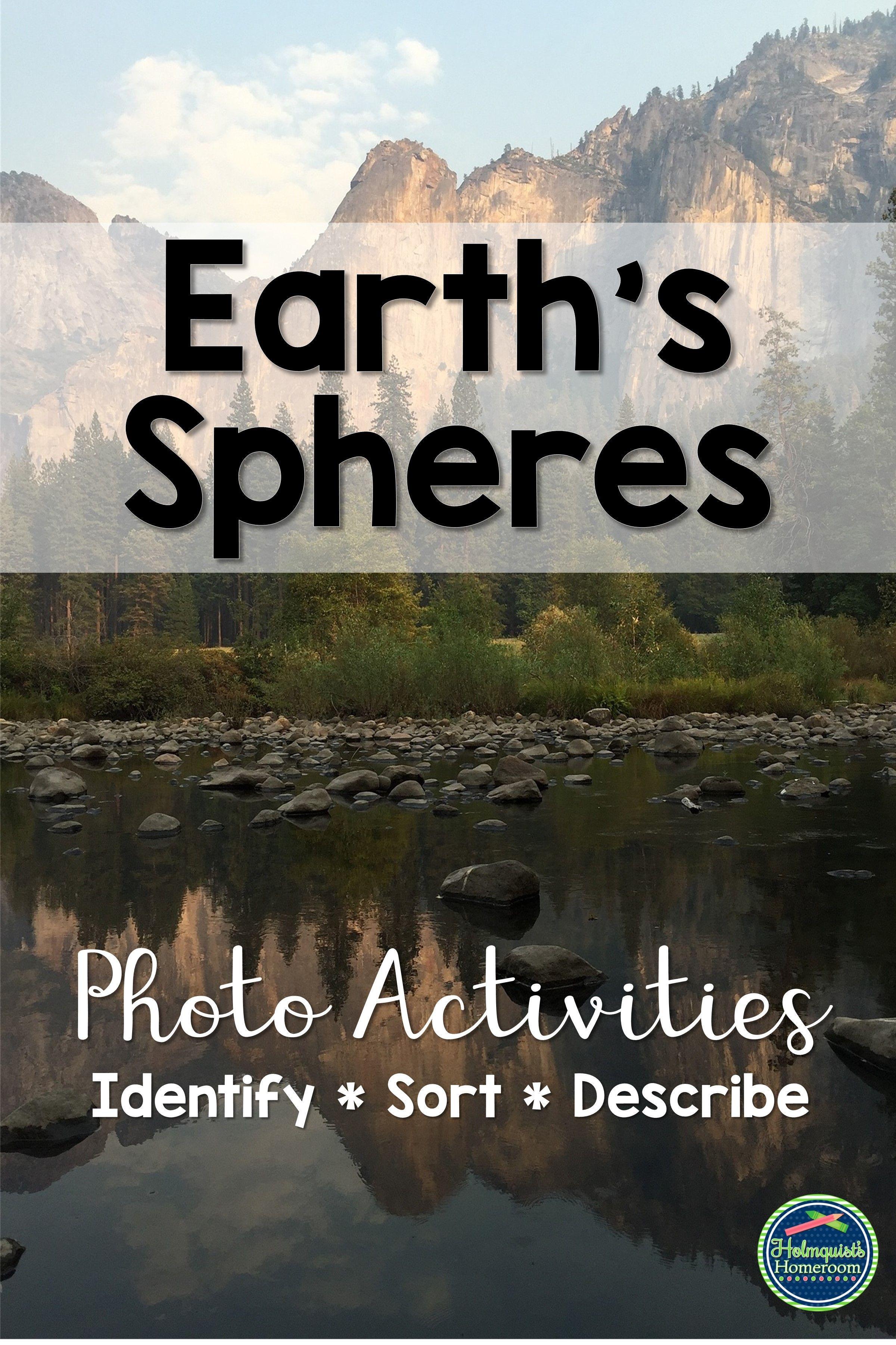 Earth S Spheres Photo Activities