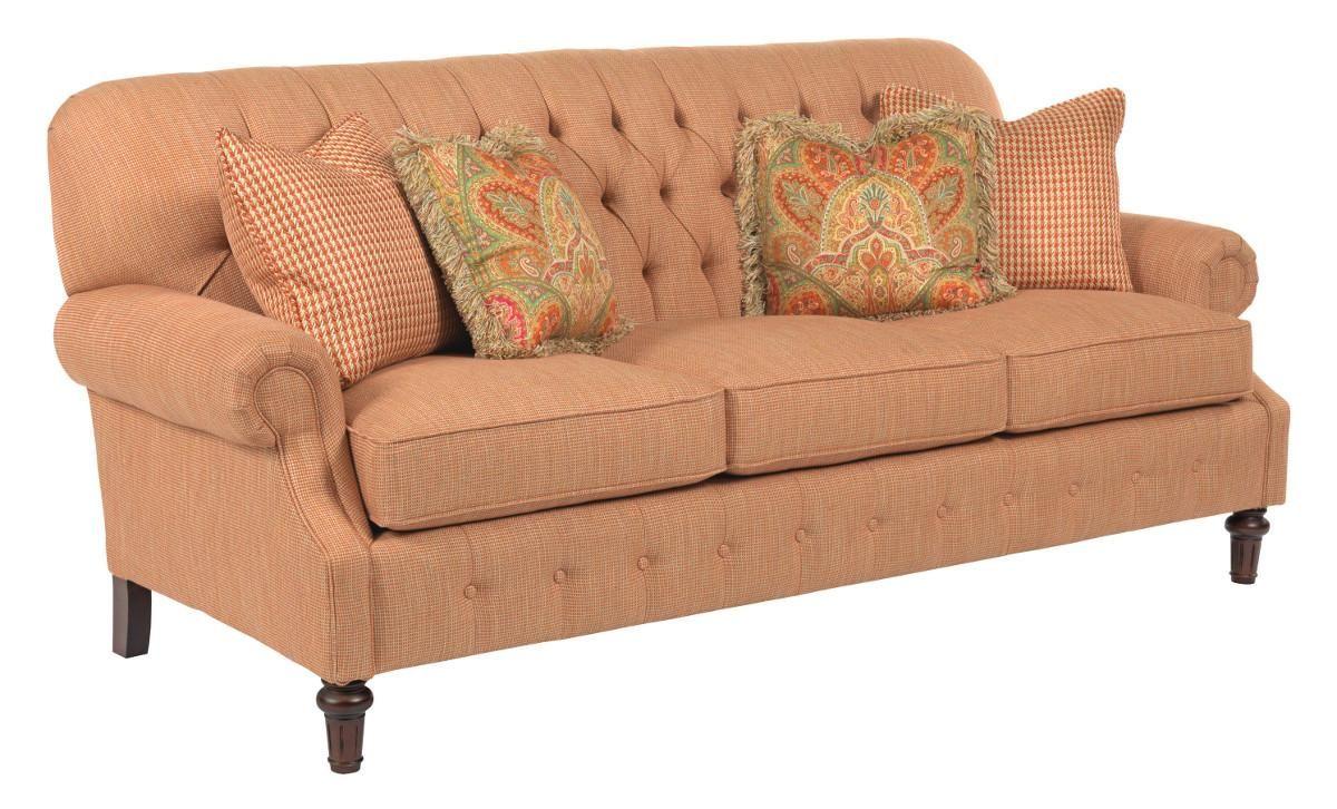 Berkshire elegant stationary sofa by kincaid furniture for the