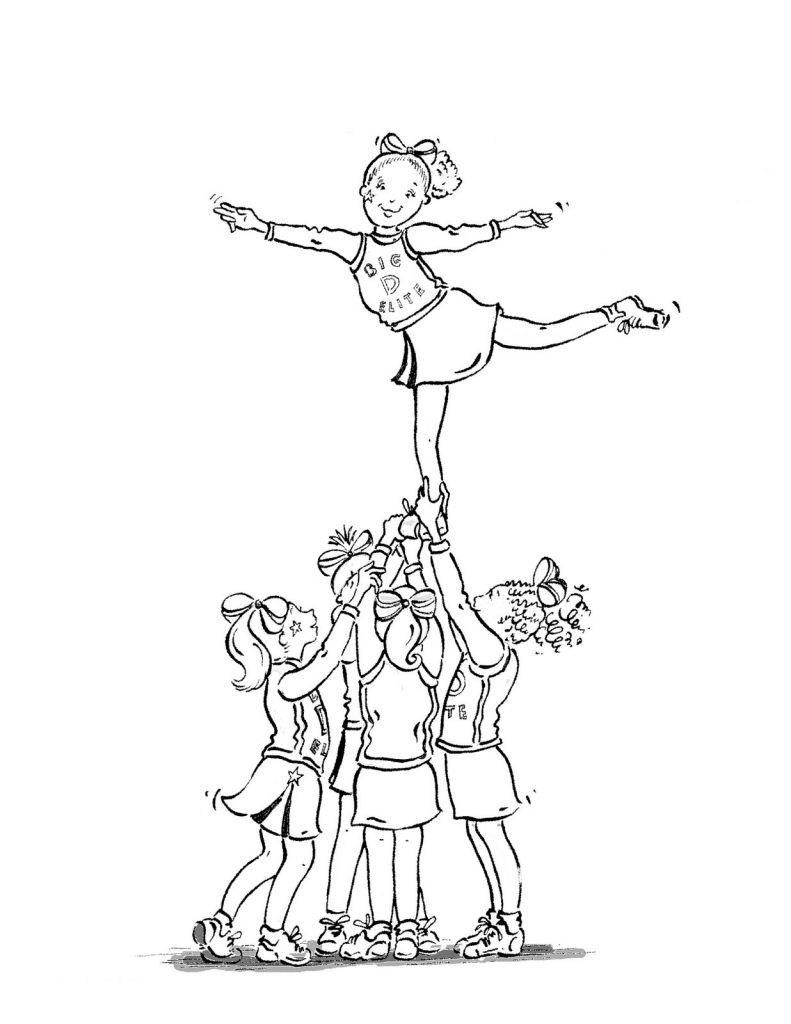Free Printable Cheerleading Coloring Pages For Kids Coloring