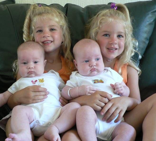 2 sets of twins