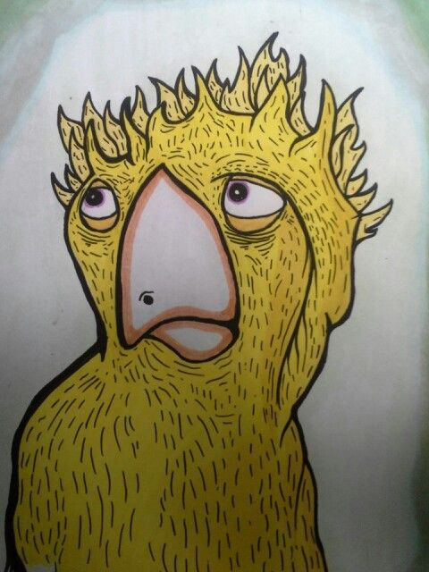 Yellowbird print $13 on my etsy page thebeardedalien