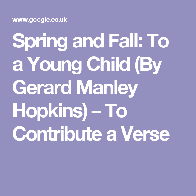 spring by gerard manley hopkins meaning