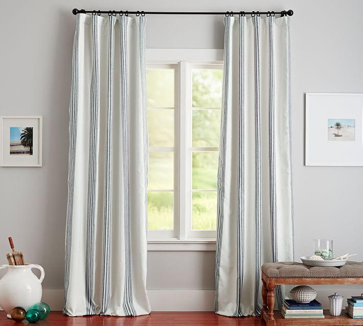 Riviera Stripe Blackout Curtain Charcoal Living Room Decor Curtains Charcoal Curtains Drapes Curtains