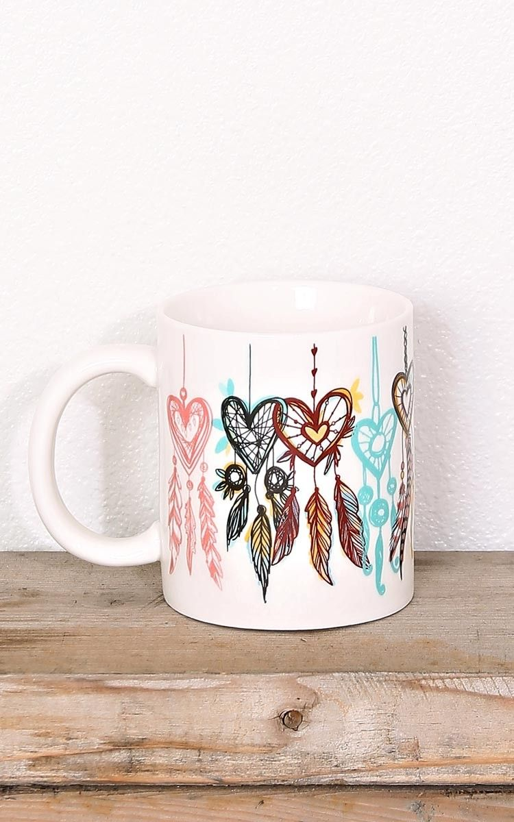 Dream Catcher Mug New Arrivals Mugs Painted Mugs Cute Coffee Mugs