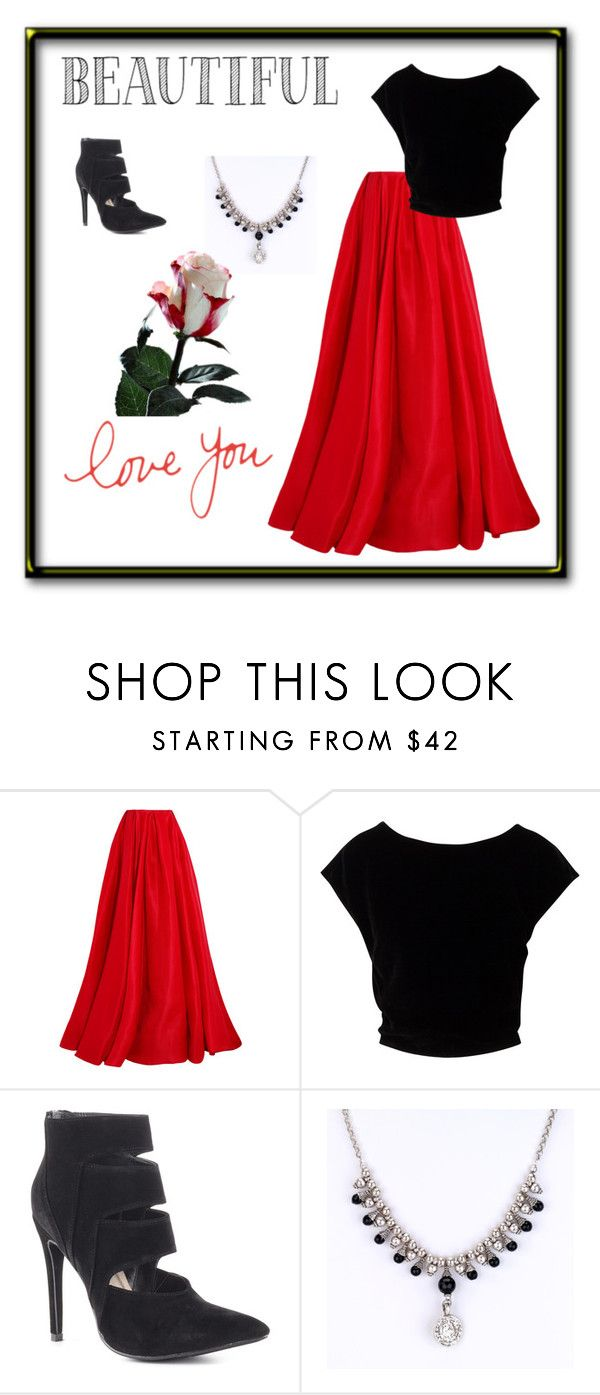 """""""beautiful"""" by sally-a-chapman ❤ liked on Polyvore featuring Reem Acra and Michael Antonio"""