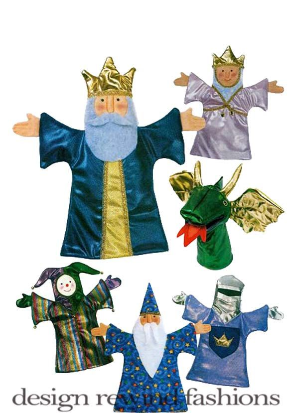 efbc96b829ac BUTTERICK 3230 Medieval Hand Puppets Theater - King, Queen, Wizard, Dragon  Jester,