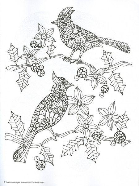 Coloring Birds by Valentina Harper. Let your imagination