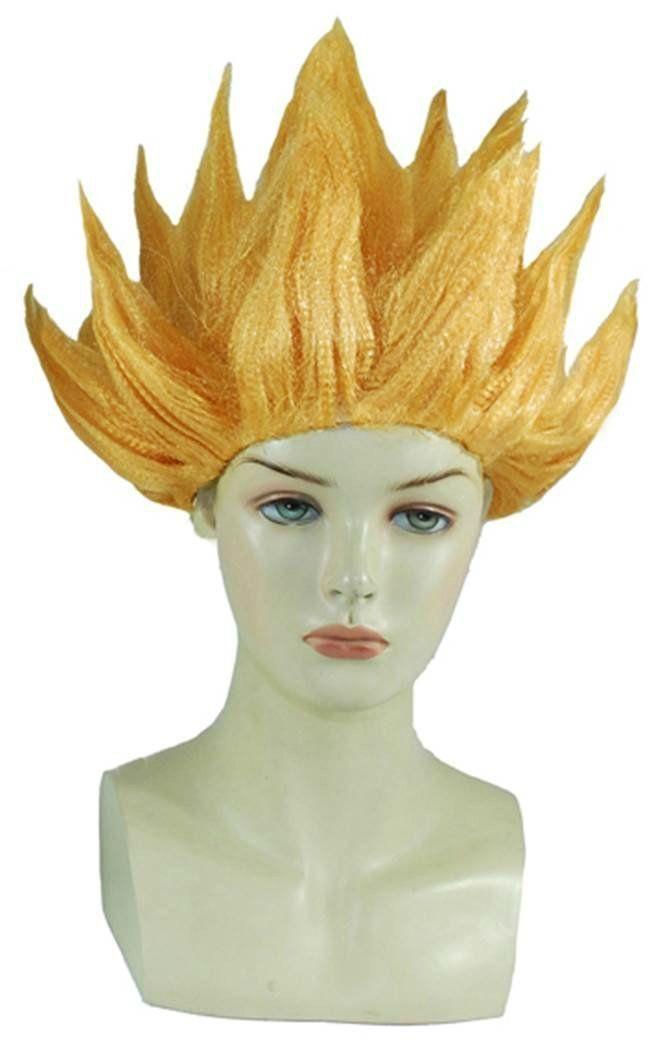 Anime Dragonball Z Cosplay Costume Wig Goku Saiyan Wig Hair Gold Party Halloween